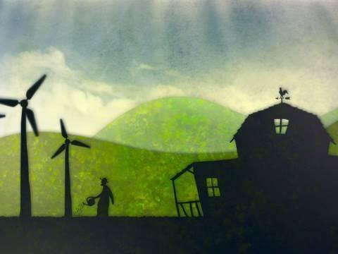El granjero de molinos de viento